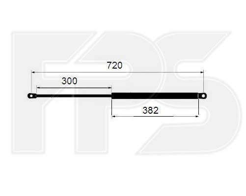 1204 290 FPS (FP 1204 290) АМОРТИЗАТОР КАПОТА