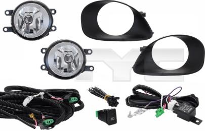 19-5857001 TYC Fog Lamp Set